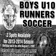 Boys U10 Runners Soccer looking for players. 3 Spots available for 2013-2014 season. Birthday must be after August 1st, 2003. Contact Artie Lynch 661.340.8225 or email at alynch2@bak.rr.com Link to […]