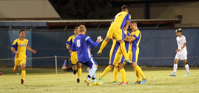 2014-10-04 NCAA Mens: CSU Bakersfield (5) v San Jose State (1) CSU Bakersfield Main Soccer Field 7pm Kickoff Bakersfield, CA Highlights Password required to view full length video.